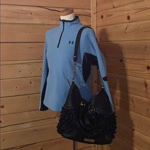 Betsey Johnson Bags - Black Betsey Johnson Ruffled Bag Purse Large